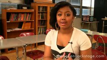 Imani Hightower Talks to audiences about the benefits of Hoboken High School's Theatre Program