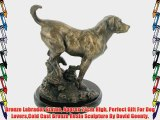Bronze Labrador Statue Approx 24cm High Perfect Gift For Dog LoversCold Cast Bronze Resin Sculpture