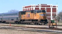 Union Pacific leads backwards Texas Eagle into Taylor, Texas Pt 1