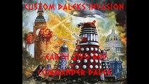 Custom Daleks Invasion Earth 2150 AD Red Command Dalek Figure