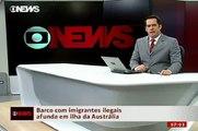 Barco com imigrantes ilegais naufraga na Australia