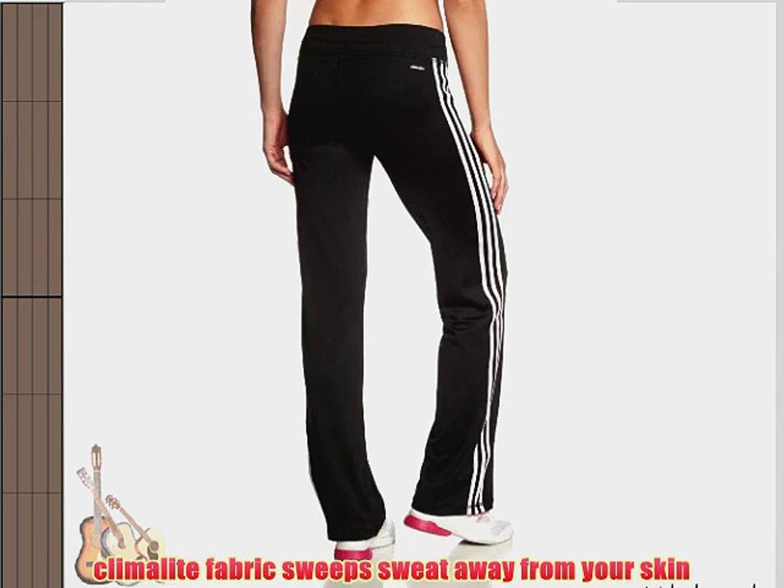 adidas Women's Clima 3 Stripes Essentials Slim Pants BlackWhite Small