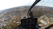 Flying over Tuscaloosa and University of Alabama into Tuscaloosa Airport and GA Center