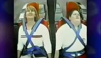 haha fat kid falling off of a roller coaster/slingshot!!!! lol