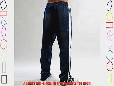 adidas firebird track pants bottoms in navy blue indigo white