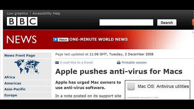 Apple pushes anti-virus for Macs