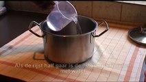 Rijst stomen (ook als je maar een klein beetje nodig hebt)