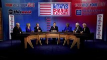 2012 Presidential Debate Format, Role of Moderator: 'This Week' Panel Discussion