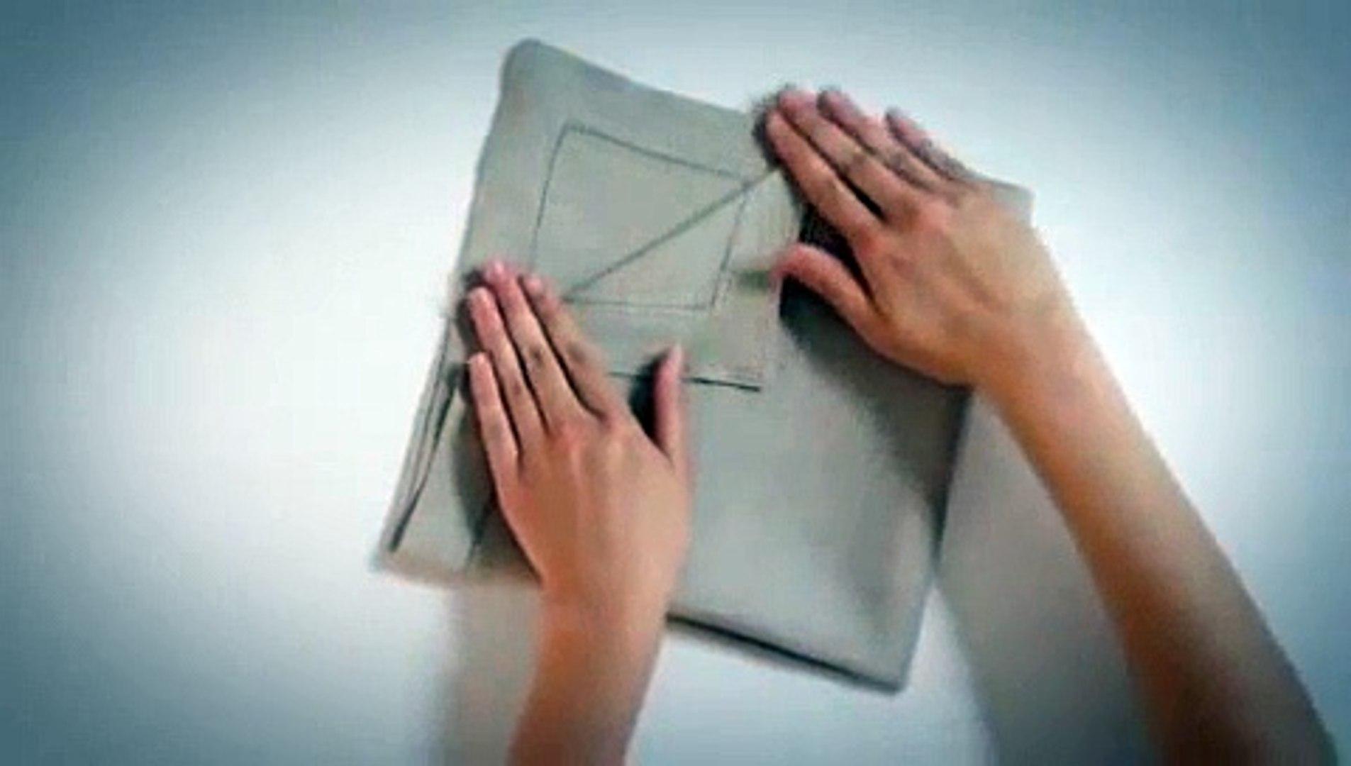 Pliage Serviette Facile Range Couverts créer un range couverts en tissu (pliage de serviette) - labelleadresse