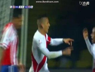 Paolo Guerrero Goal Peru 2-0 Paraguay