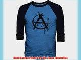 Big Texas Anarchy Graffiti (Black) 3/4-Sleeve Baseball T-Shirt Cobalt Marle / Navy L