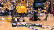 Dwyane Wade Knees Paul George in the Head | Heat vs Pacers | May 20, 2014 | Game 2 | NBA Playoffs