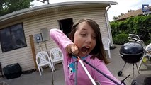 Girl pulls out her Tooth with A Slingbow!