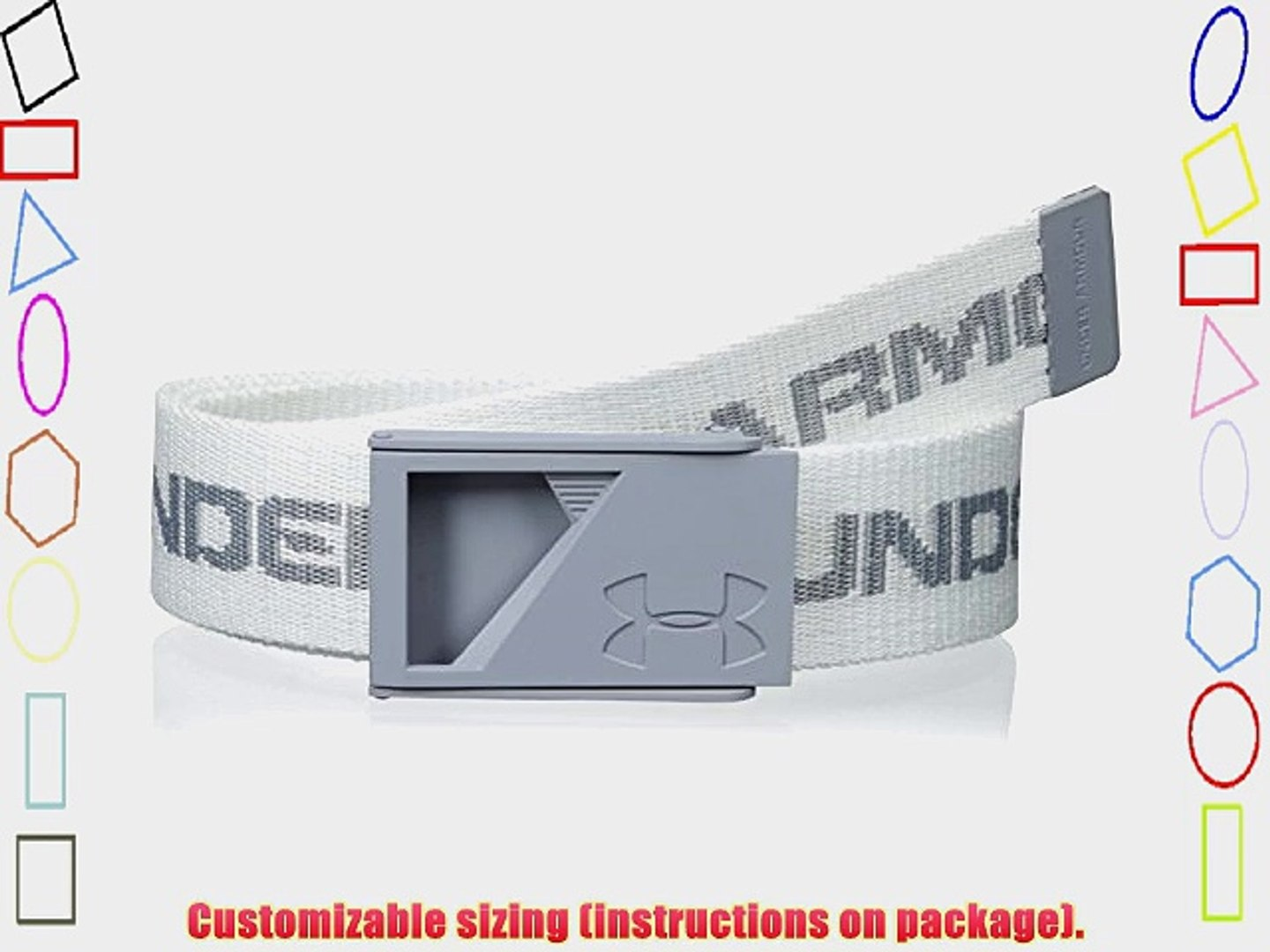 1b827aa560 2015 Under Armour Range Mens Funky Webbing Golf Belt -Bottle Opener Buckle  White
