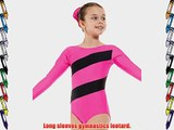 Gymnastics Leotard Long Sleeved Gym Wear Pink and Black Stripe Sold By DCUK ?