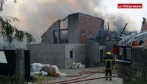 Ploubezre (22). Le feu détruit une maison
