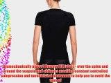 Skins A200 Short Sleeve Women's Compression Top - Black/Black M