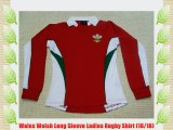 Wales Welsh Long Sleeve Ladies Rugby Shirt (16/18)