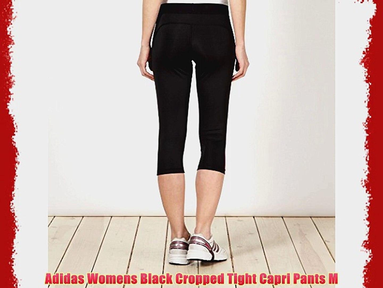 Adidas Womens Black Cropped Tight Capri Pants M