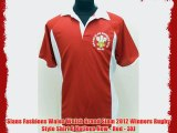 Sians Fashions Wales Welsh Grand Slam 2012 Winners Rugby Style Shirt 6 Nations New - Red -