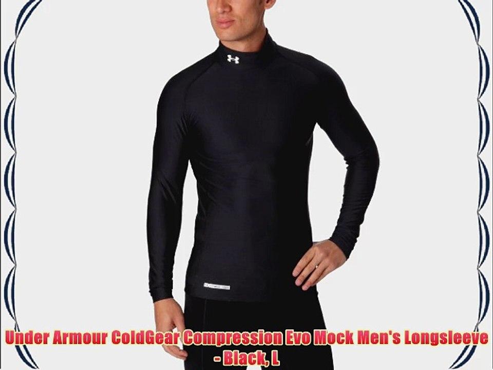 Under Armour ColdGear Armour Compression Mock Long Sleeve Black