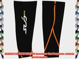 Sub Sports RX Men's Graduated Compression Baselayer Calf Guards  - Small Black/Orange