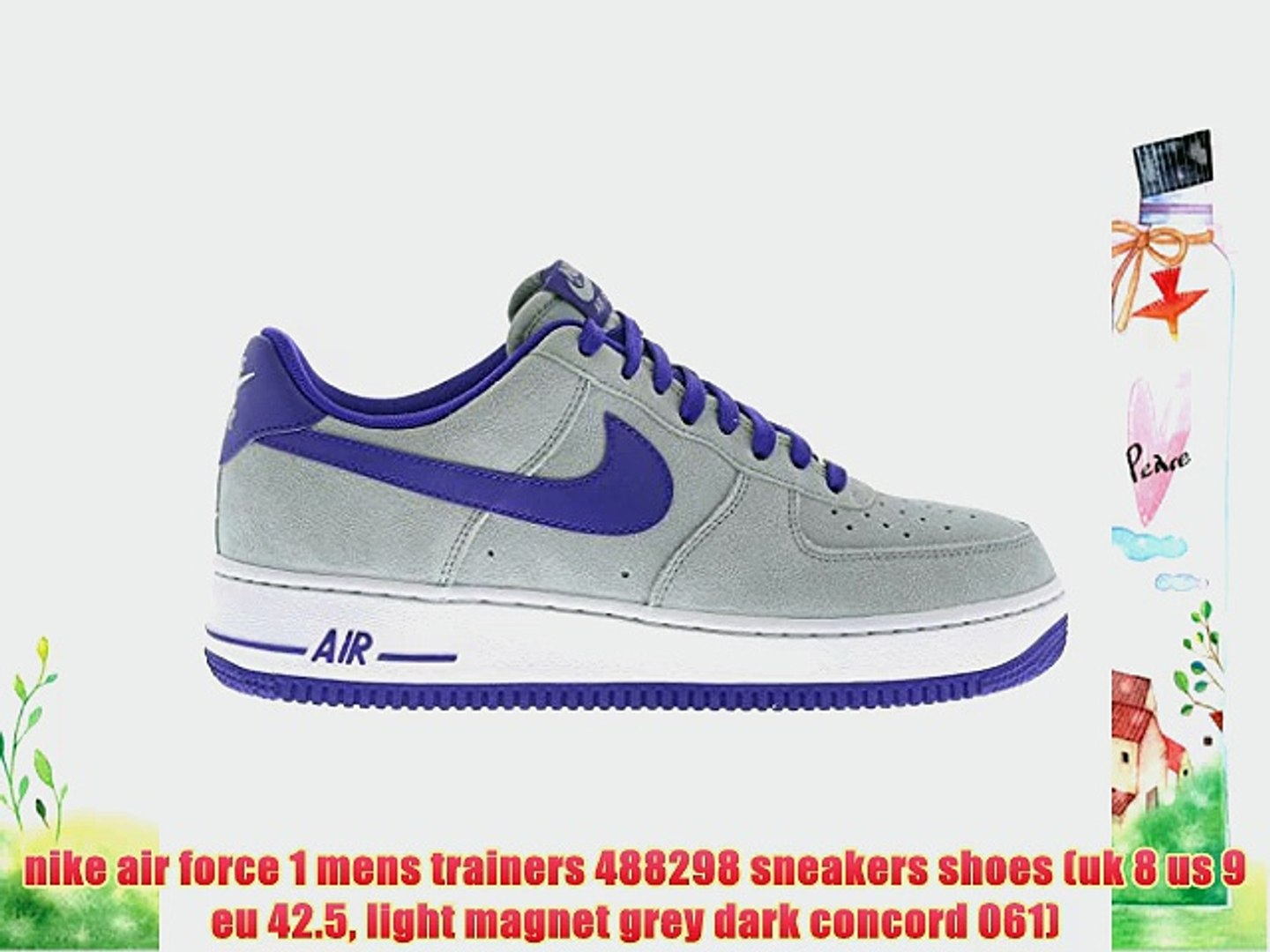 nike air force 1 mens trainers 488298 sneakers shoes (uk 8 us 9 eu 42.5 light magnet grey dark