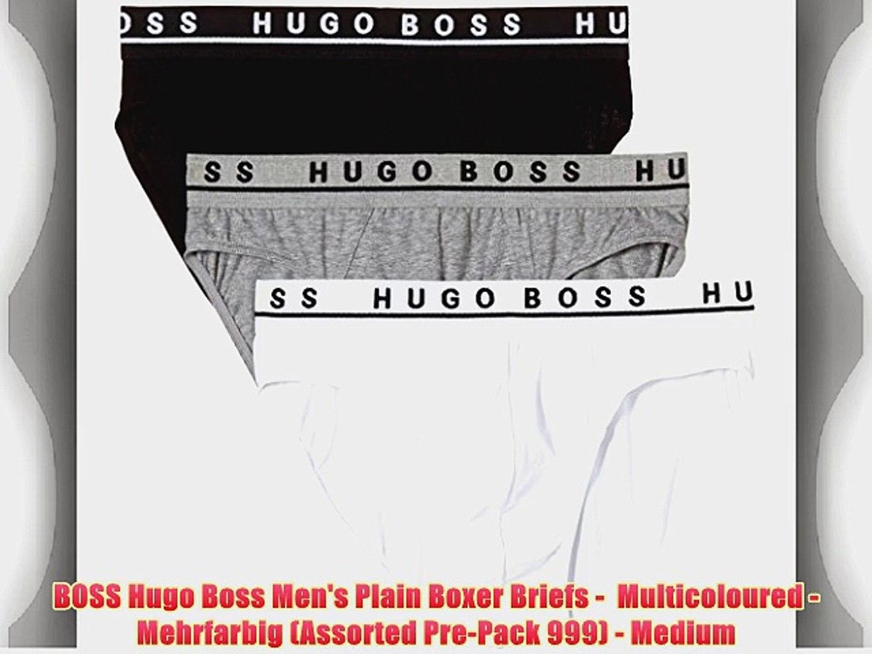 Multicoloured Mehrfarbig Assorted Pre-Pack 999 - Medium BOSS Hugo Boss Mens Plain Trunk