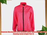 Mountain Warehouse Force Womens Water-Resistant Reflective Running Jacket Bright Pink 16