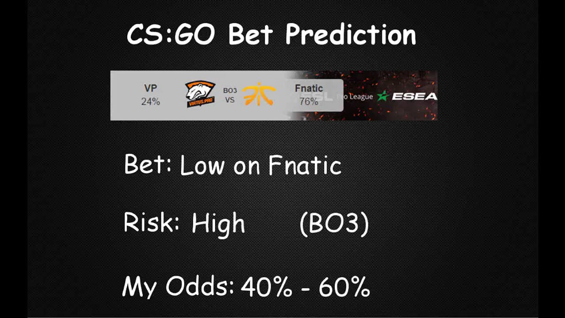 Envyus vs fnatic betting pro football betting lines and odds