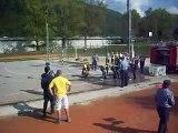 Mladinci PGD Blatna Brezovica na pokalnem tekmovanju v Borovnici 19.09.2009 2. nastop