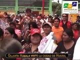 Ollanta Humala visitó Huaral...y  lanzó programa de desayunos y almuerzos escolares