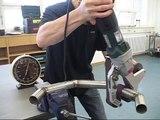 Metabo Inox stainless steel grinding, finishing and polishing of metal tubes