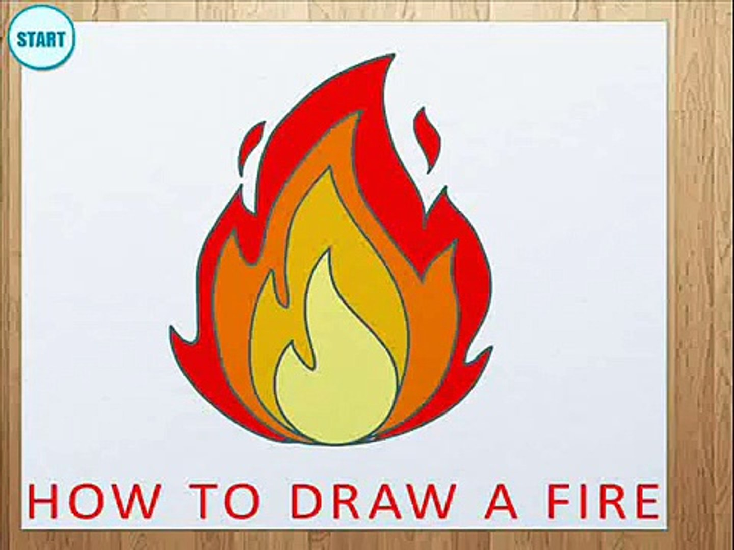 How To Draw A Fire How To Draw Flame Video Dailymotion