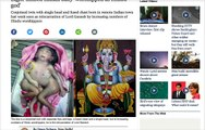 Baby Born with Four Arms & Four Legs Worshiped as Hindu God in India