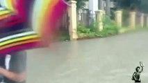 Heavy monsoon rain pummels flooded Philippines