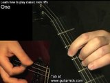 One, Metallica - guitar lesson & TAB! learn to play classic rock metal riffs