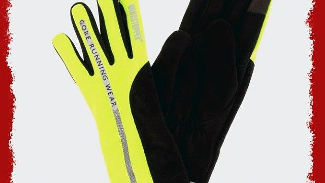 Gore Running Wear Mythos SO Neon Gloves - Neon Yellow Medium