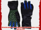 adidas Boys Gloves - Black/Collegiate Royal/White/Neon Green Medium