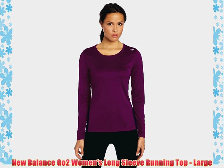 new balance women's go 2 long sleeve top