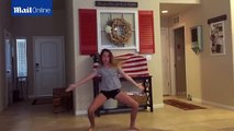 Forget line dancing! Cowboy father channels his inner hip-hop star and dances along with tween daug
