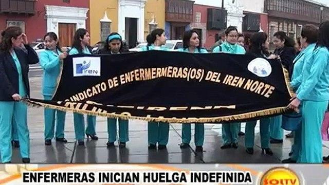 Enfermeras inician huelga indefinida