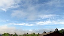 Drifting chemtrails after yesterday's spraying further south, Trondheim Norway, July 5 2015 morning