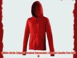 AWDis Girlie (Zipped Hooded Sweatshirt Hoodie) Zoodie Fire Red M