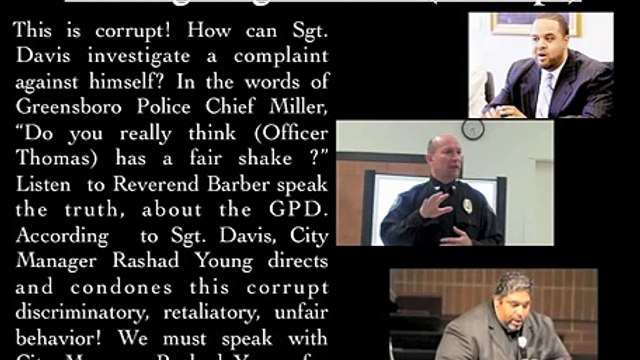Greensboro Police Corruption Continues - Sgt DJ Davis, Chief Ken Miller, City Manager Rashad Young