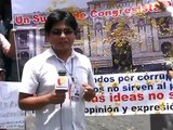 AREQUIPEÑOS PROTESTARON EN CONTRA DE AUMENTO DE CONGRESISTAS HBA NOTICIAS AREQUIPA PERU 2012