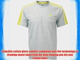 adidas Performance Essentials Mens Climalite Fade 3 Stripe Short Sleeve T-Shirt - Grey - Small