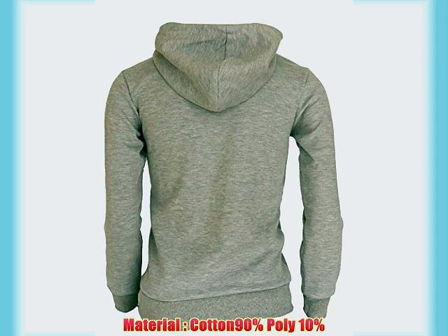 BCPOLO zipper hoodie jumper Zip-Hoodie Solid Cotton Zip-up hoodie jacket-gray XXL
