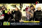 Ecuador: continúan protestas a pocos días de visita del Papa Francisco