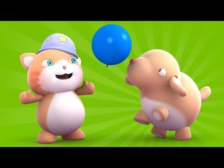 Looi the cat - a balloon playing Puppy, for kids